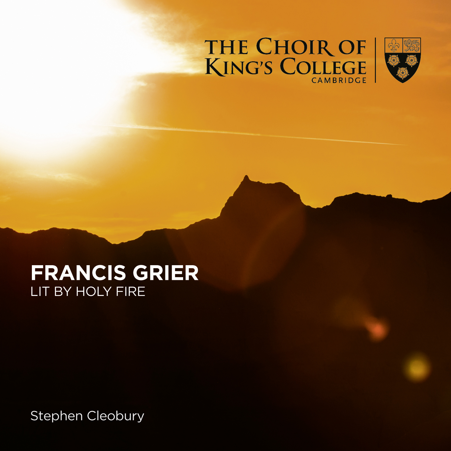 Francis Grier: lit by holy fire – cover