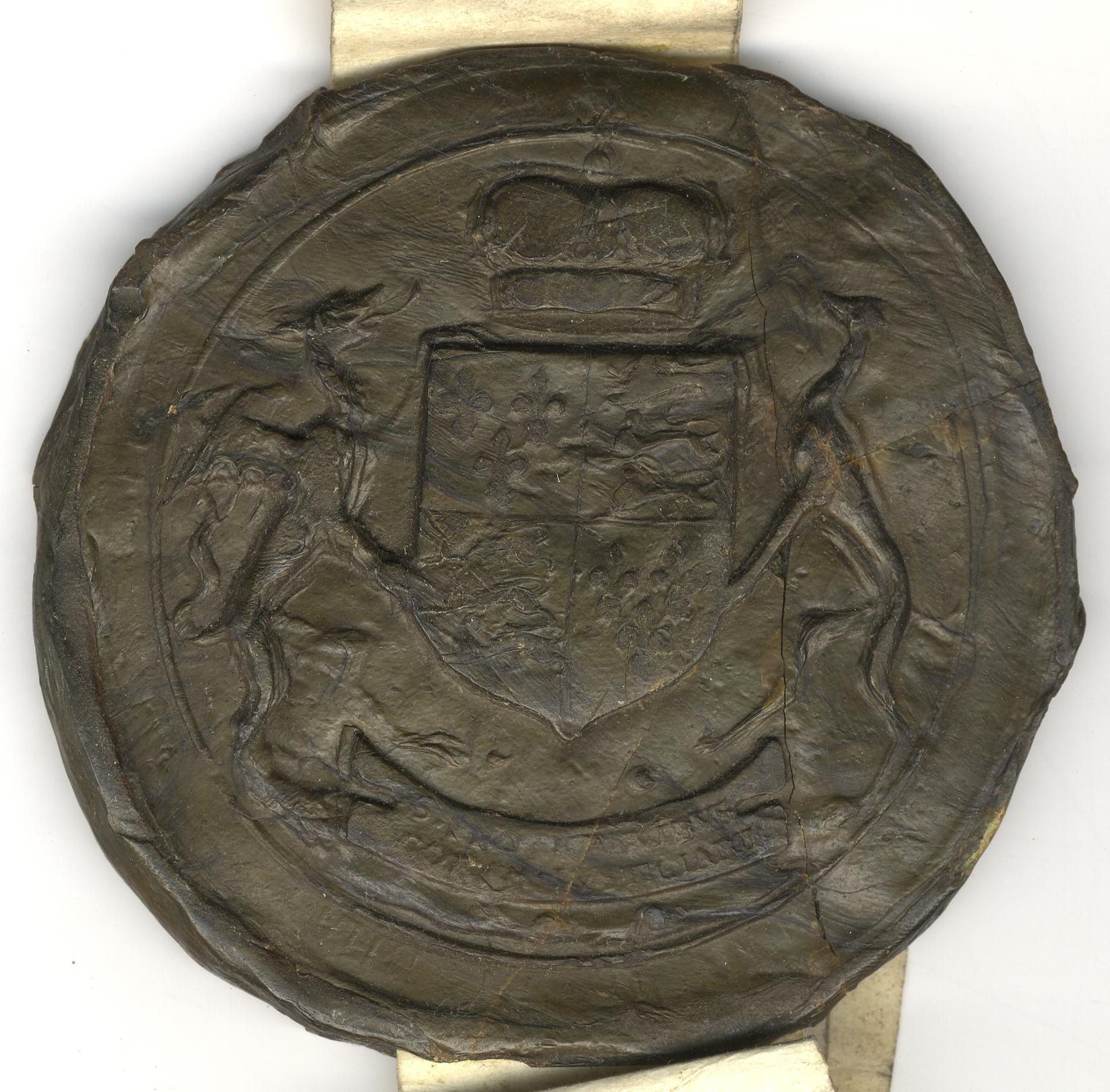 Privy Seal of Elizabeth I, royal crest. (SAC/60)