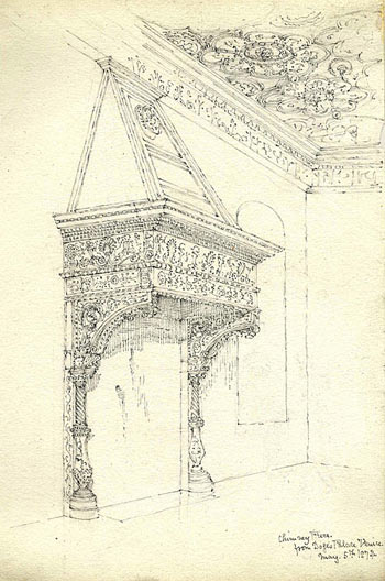 The chimney piece in the Doge's Palace, Venice (5 May 1874)