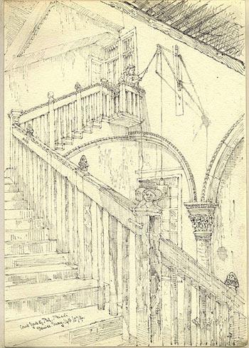 The courtyard of Palazzo Priuli, Venice (14 May 1874)