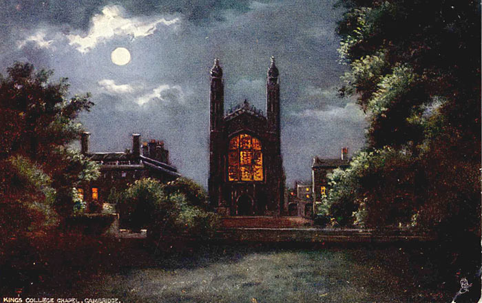 King's College in the moonlight from the Backs