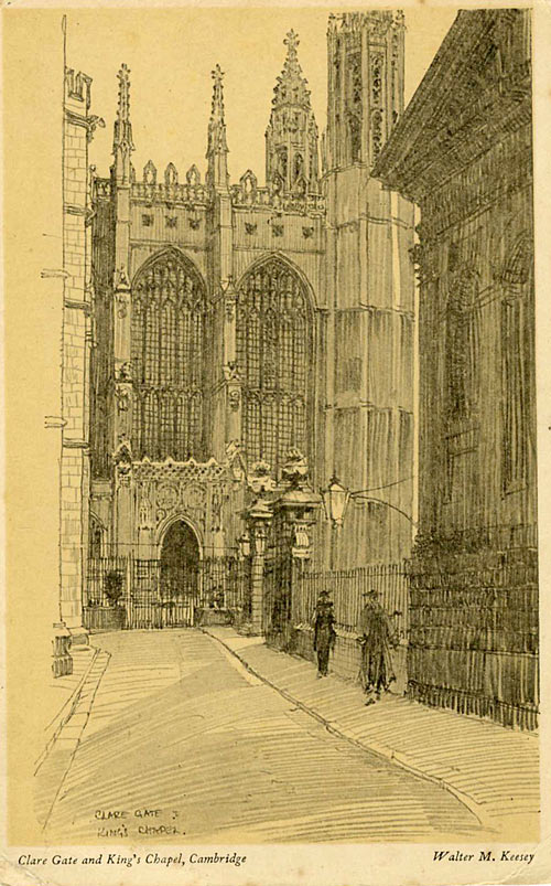 King's College Chapel and Clare Gate