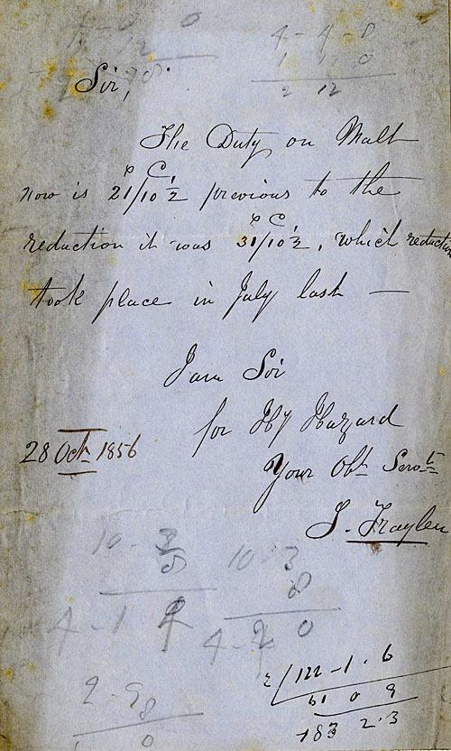 Malt duty, 28 October 1856