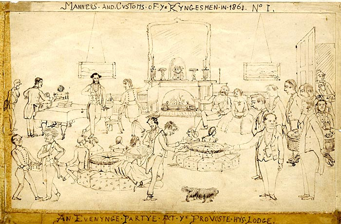 Cartoon by Arthur Coleridge James, 1861