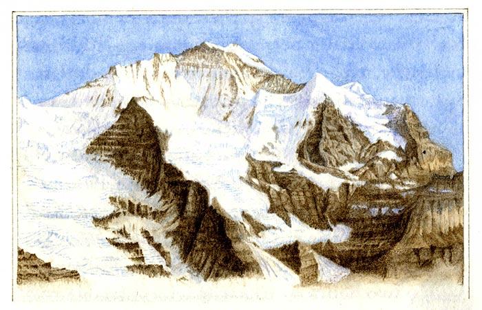 The Jungfrau, Bernese Alps (Switzerland)