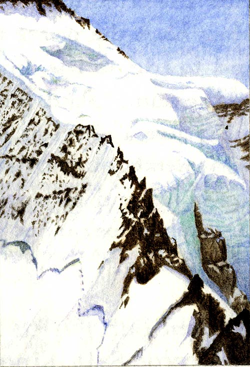 South ridge of the Silberhorn, Bernese Alps (Switzerland)