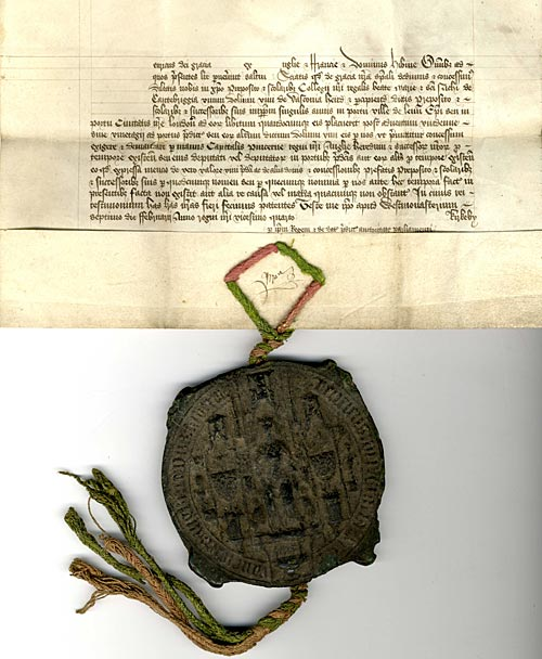 Royal Letters Patent granting an annuity of one tun of wine (1446)