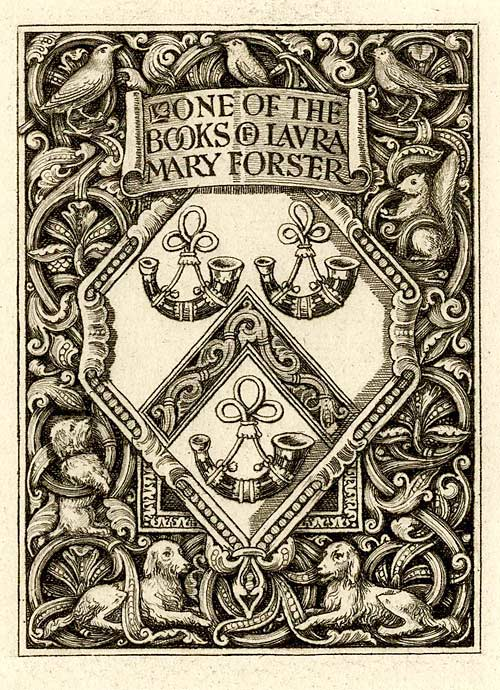 Bookplate of Laura Mary Forster (EM Forster's aunt)