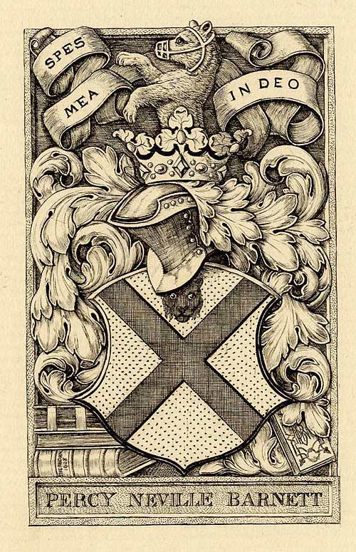 Bookplate of Percy Neville Barnett