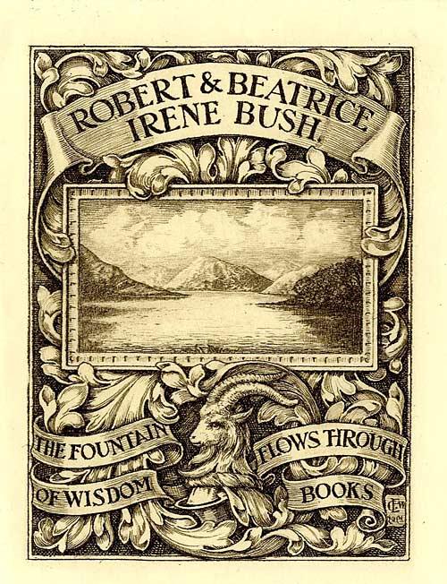 Bookplate of Robert and Beatrice Irene Bush