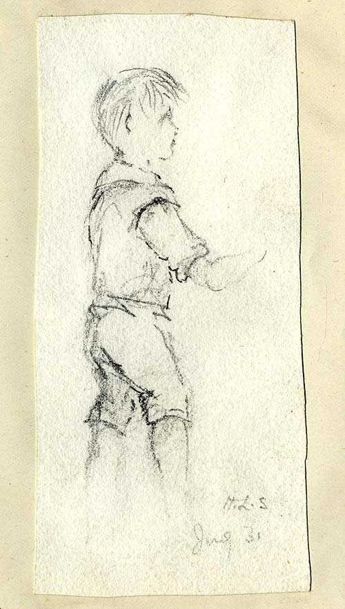 Pencil study of a small boy