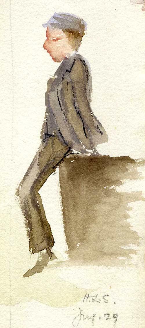 Watercolour of a boy