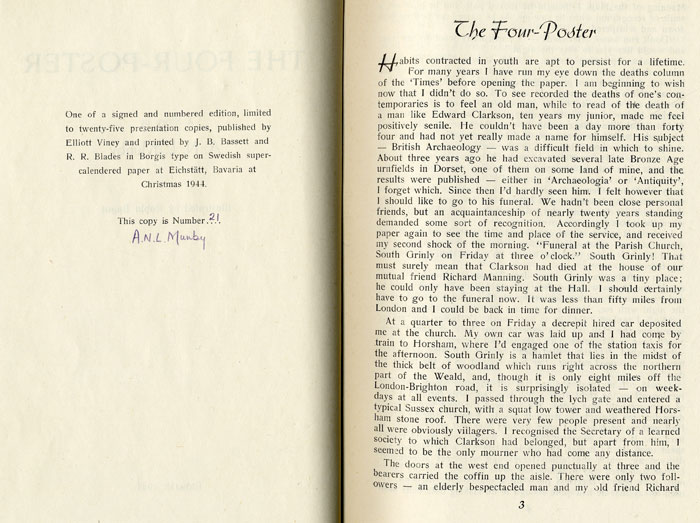 Munby's story 'The Four Poster', Eichstätt 1944 (ANLM/6/2/1)