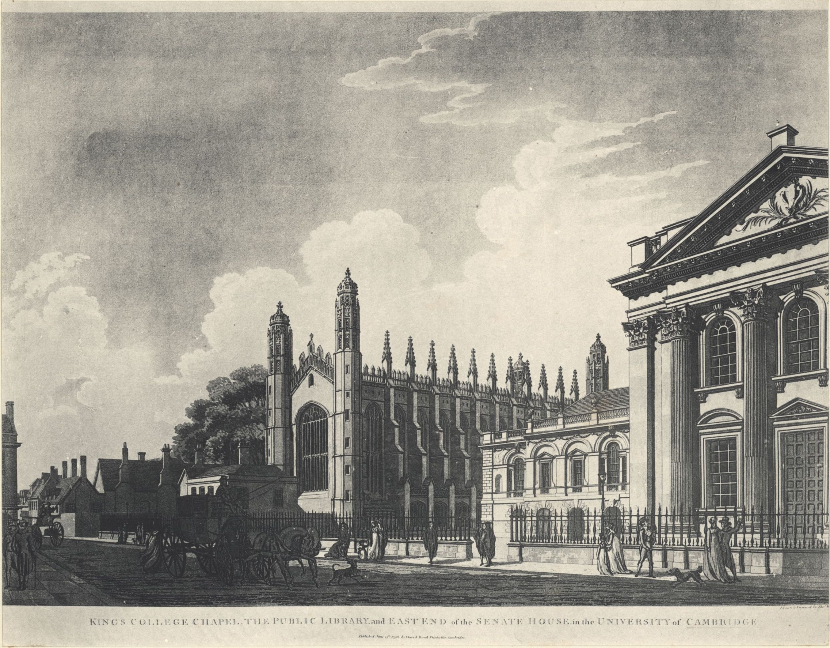 •View of the original Provost's Lodge, from an engraving by Thomas Malton, 1798. [Bygone King's, plate XII]