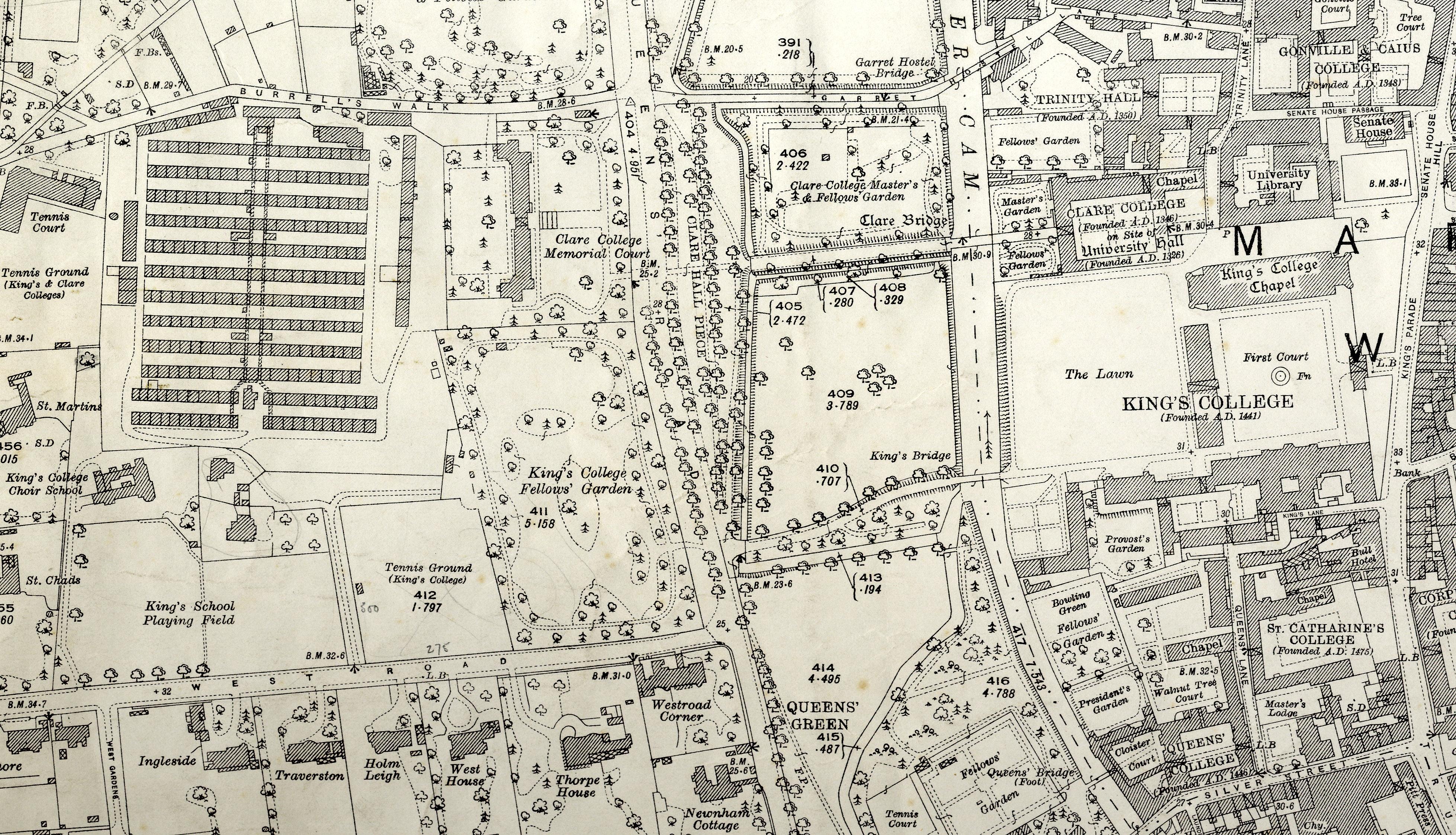 Ordnance Survey map, 1927 (CAM/200)