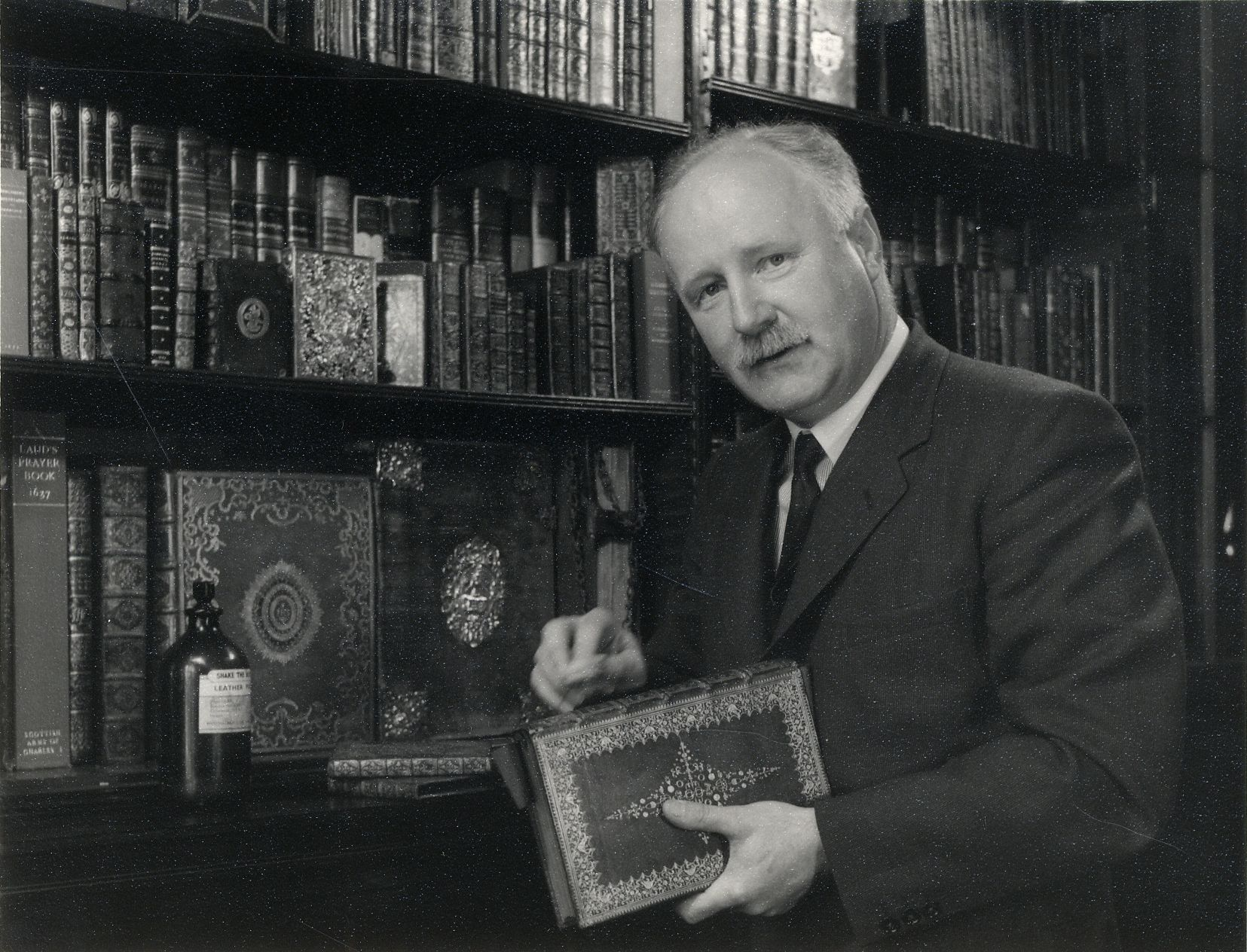 Alan Noel Latimer (Tim) Munby, taken by Antony Barrington Brown. [Coll Photo 329]
