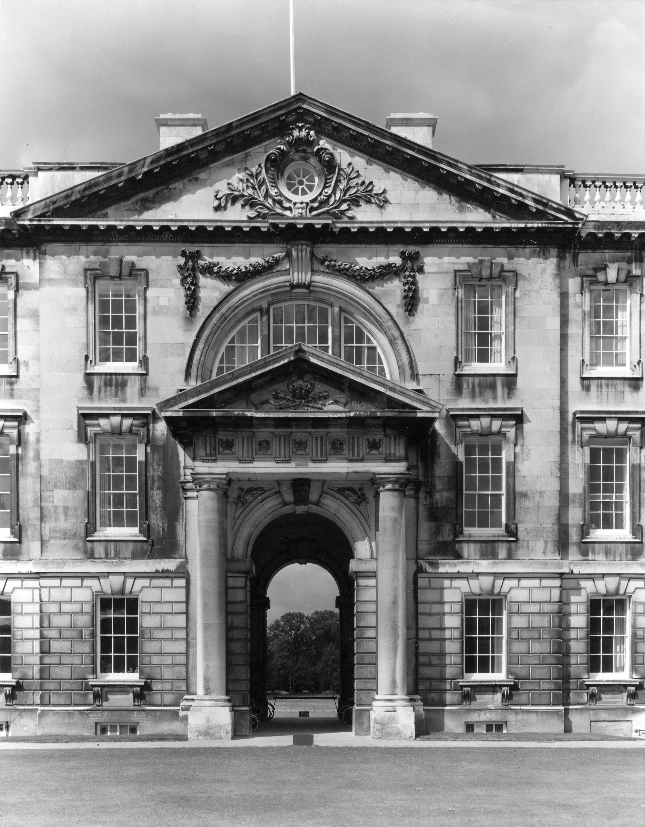 Photograph of the East face of the Gibbs building, taken by Edward Leigh. [Coll Ph 1190]
