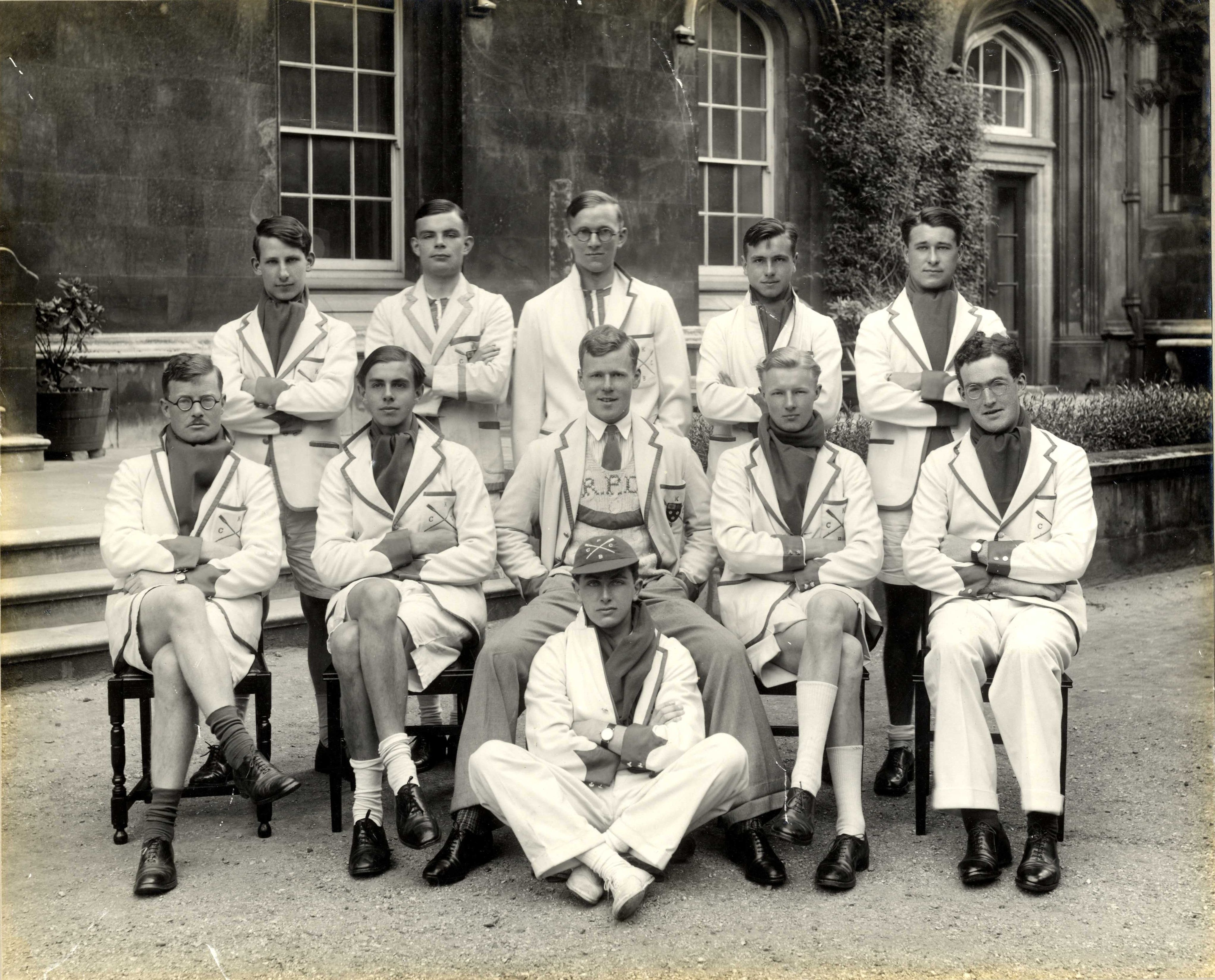 Turing rowed for King's in the May Bumps shortly after his election to a Fellowship.  [Coll. 2140/4/1935/2]