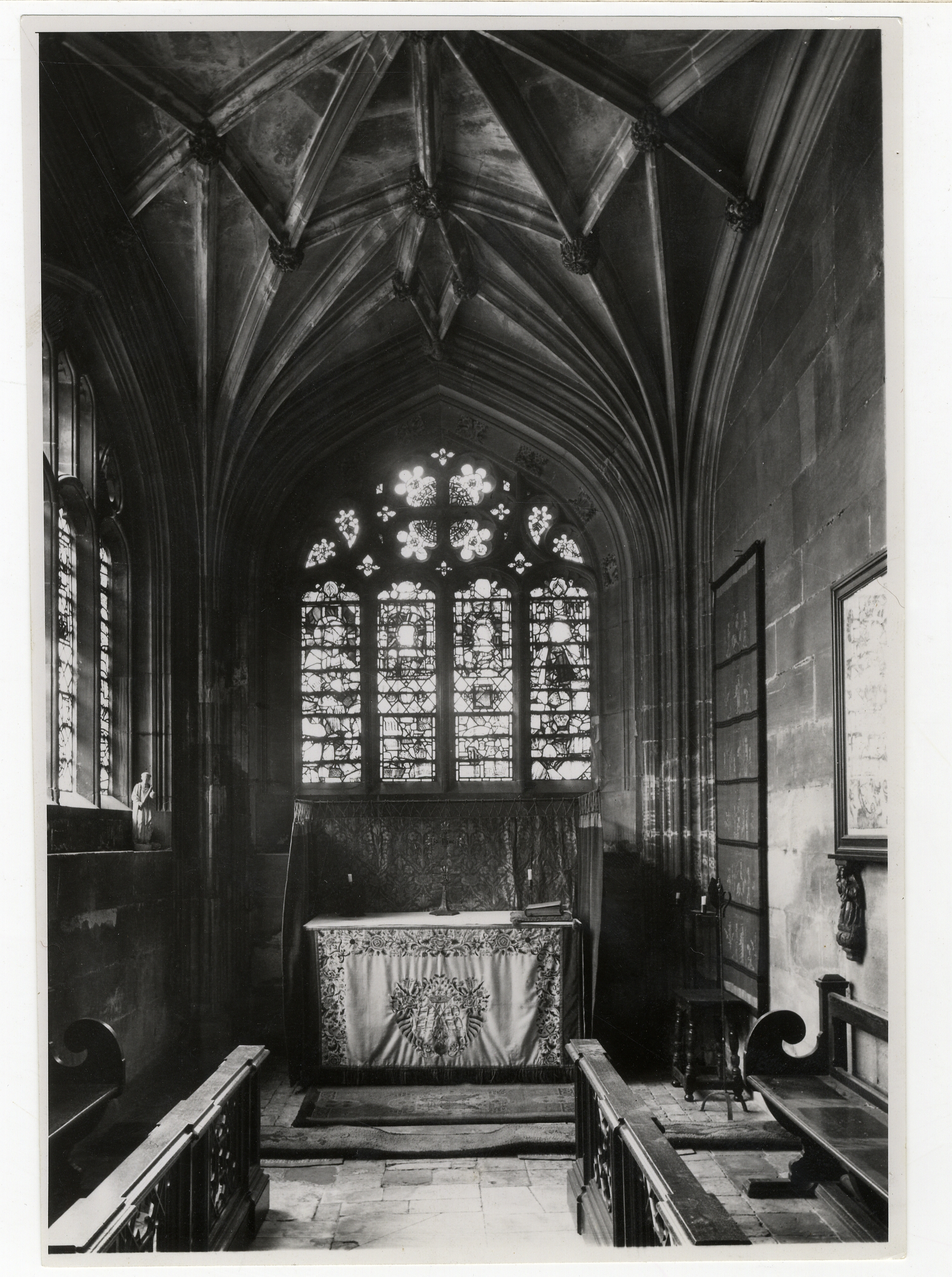North-east side chapel, with lierne vault. [Coll-Ph-719]. This was the first part of the Chapel to be completed.