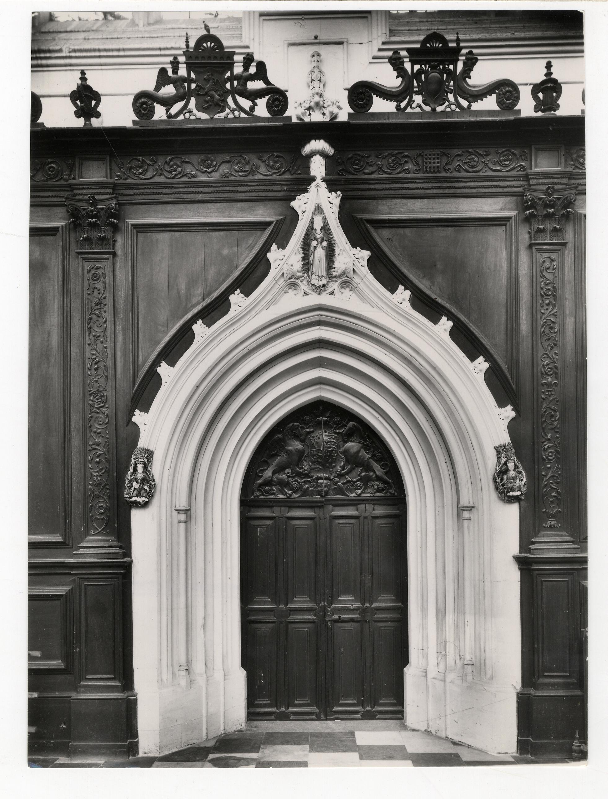 South door of the Choir. Photograph: RCHM, 1949. [Coll-Ph-911]