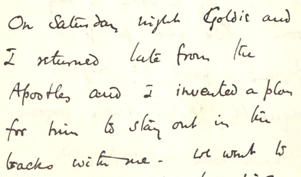 Letter from Fry to Ashbee, 1887. [CRA/1/3, 111]