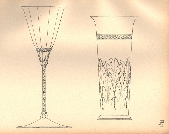 Designs for a 'cup and beaker'. [Ashbee (1908) 'Modern English silverwork: an essay', pl.75]
