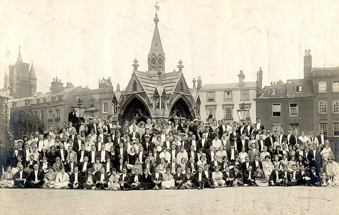 Dud's Ball 1920 in Market Square, Cambridge.