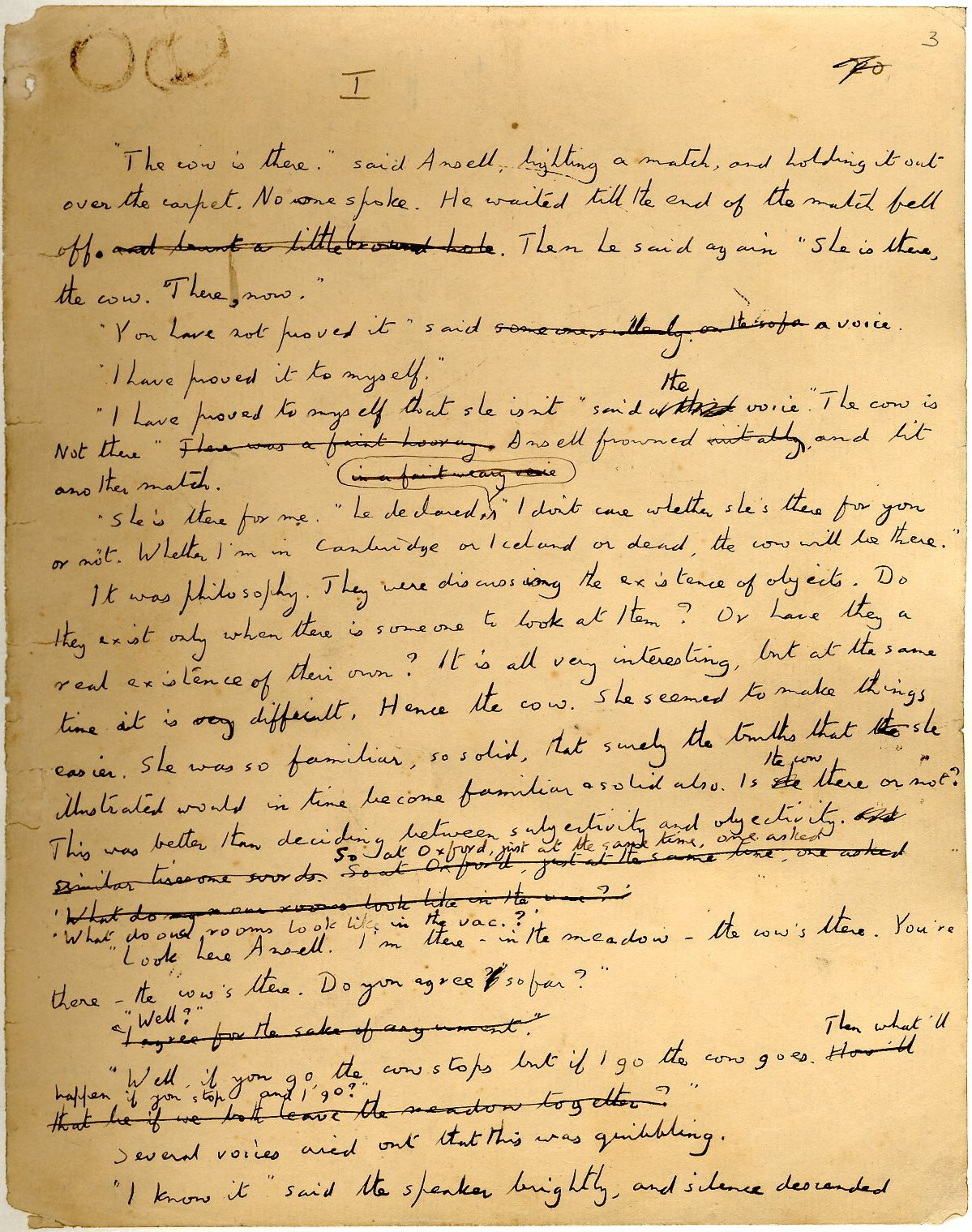 Start of autograph manuscript draft of 'The Longest Journey'. [EMF/1/4/2]