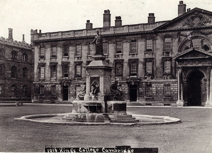 Fountain, and Gibbs Building with flower boxes (1916; EMF/27/239)