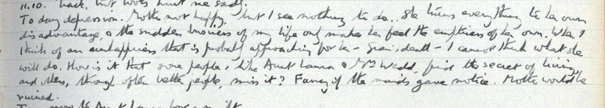 E.M. Forster's locked diary entry, 11 December 1910 (EMF/vo. 4/4, f.15).