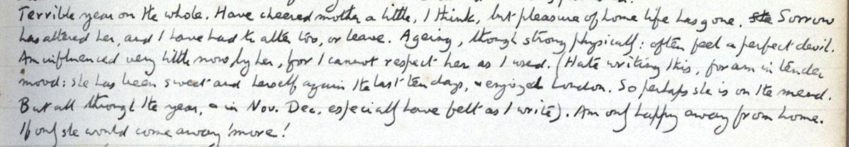 E.M. Forster's locked diary entry, 31 December 1911 (EMF/vo. 4/4, f.26).