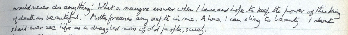 E.M. Forster's locked diary entry, 5 March 1912, continued (EMF/vo. 4/4, f.28).