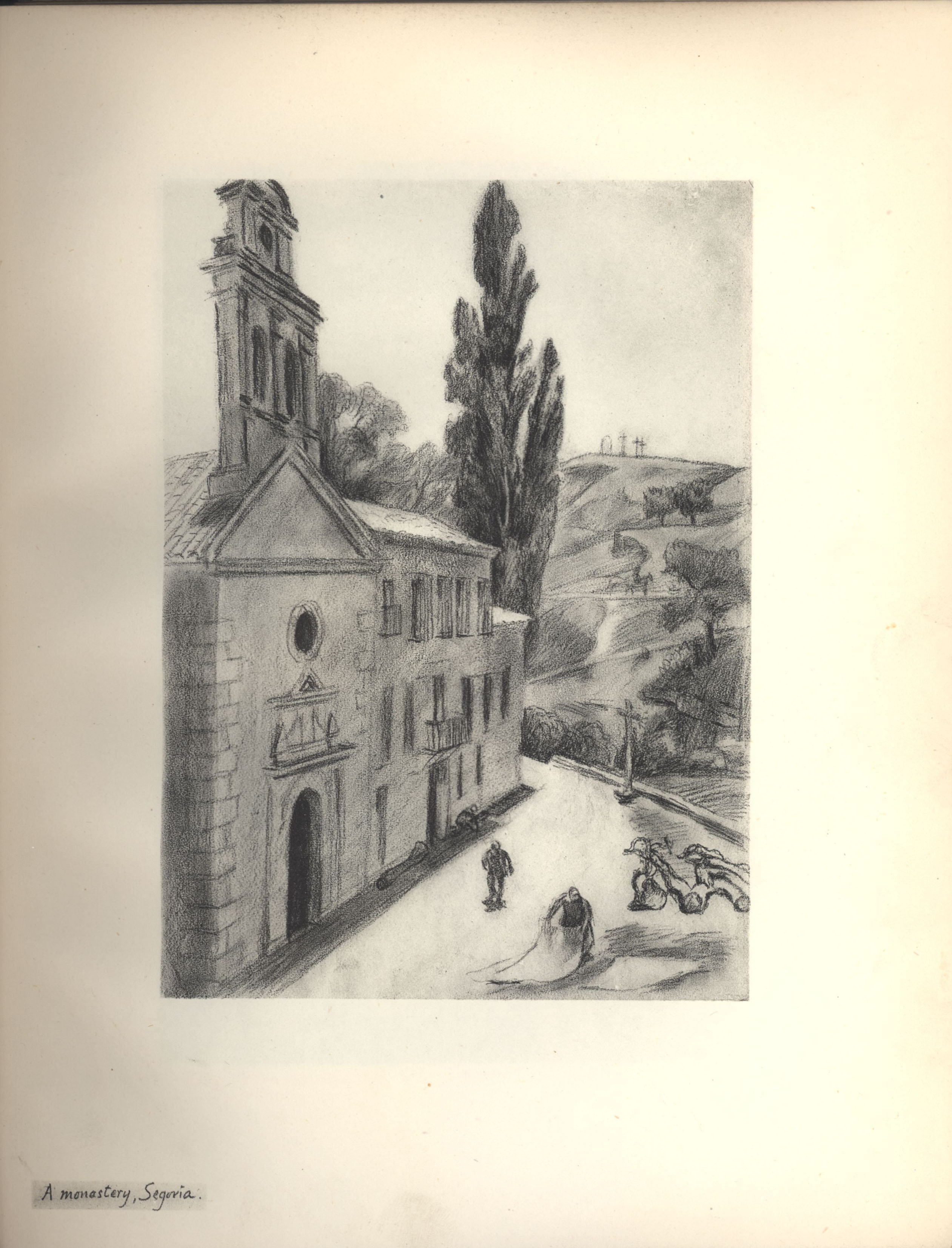 A Monastery, Segoria. Sketch from Roger Fry's sketchbook, 1923, used in 'A Sampler of Castile'.