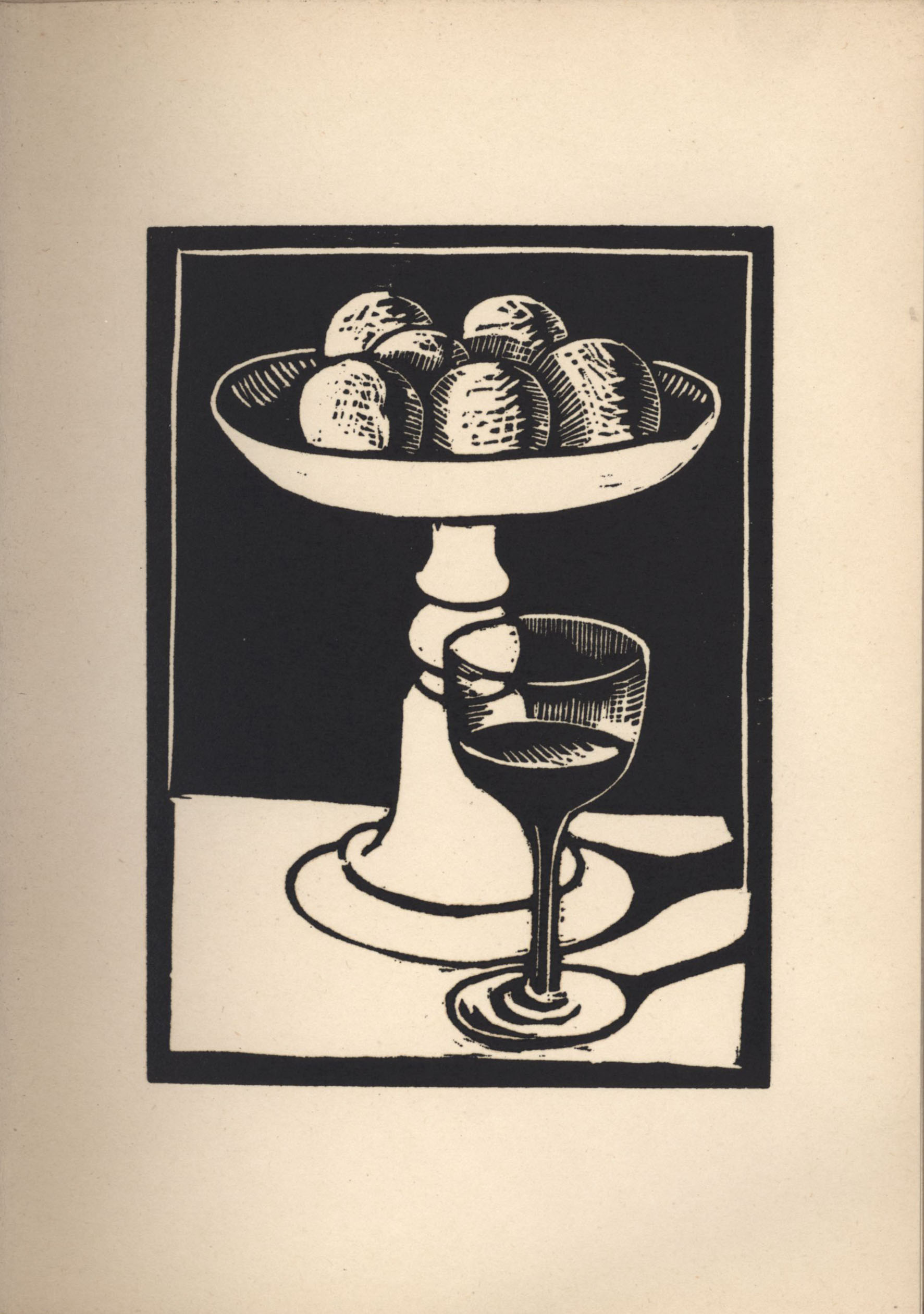 Eleventh woodcut from Roger Fry's 'Twelve Original Woodcuts'.