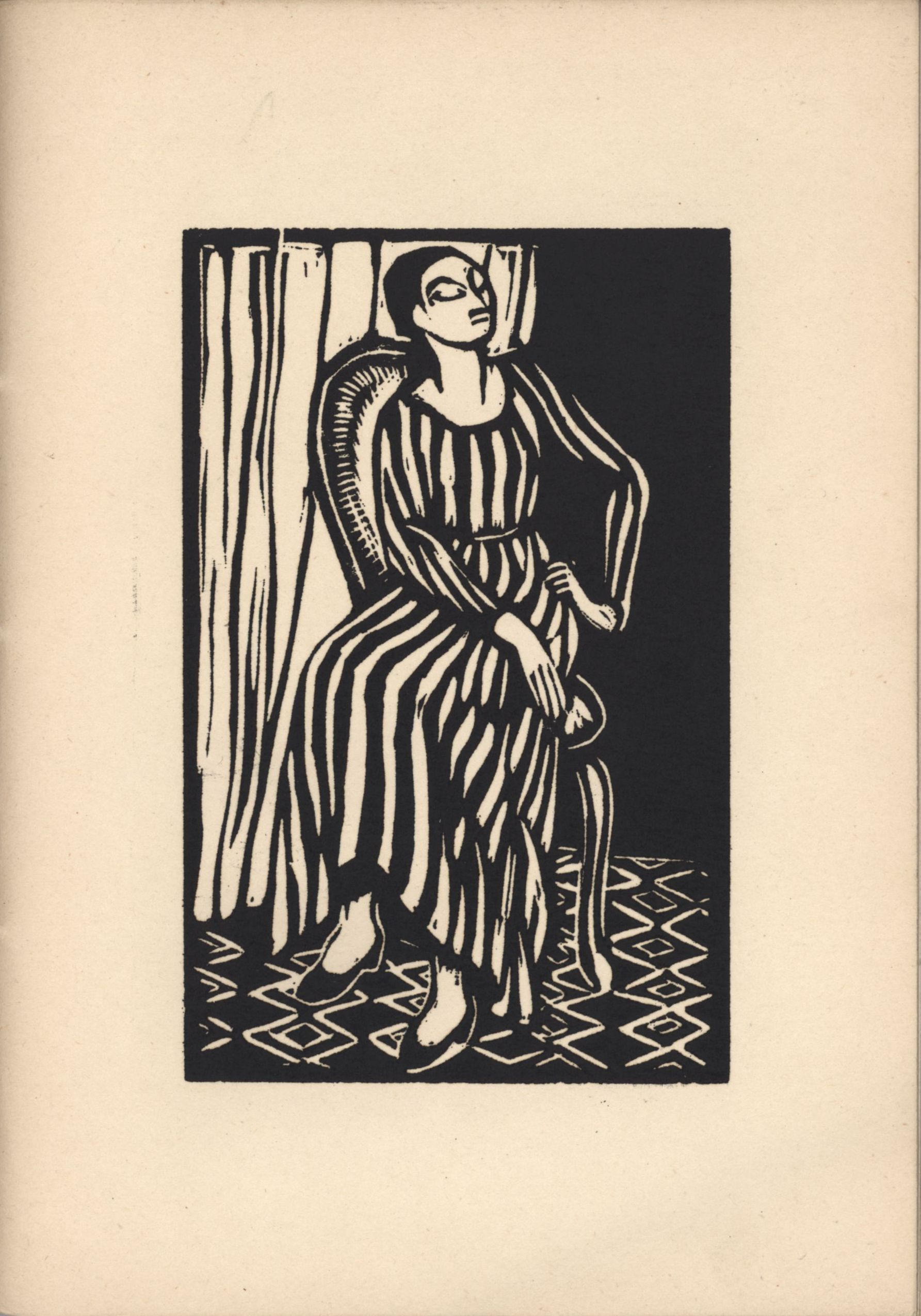 Second woodcut from Roger Fry's 'Twelve Original Woodcuts'.