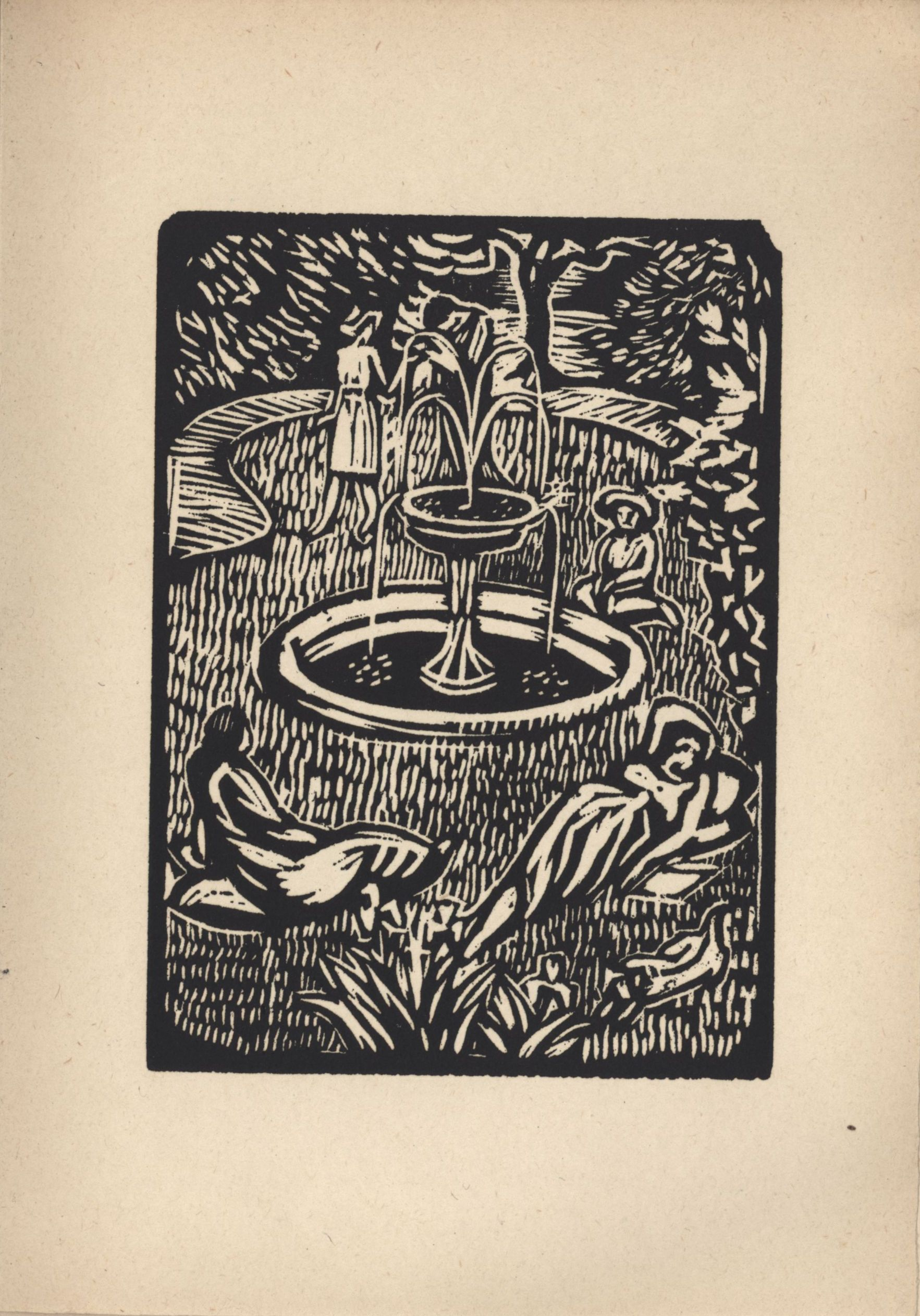 Eighth woodcut from Roger Fry's 'Twelve Original Woodcuts'.