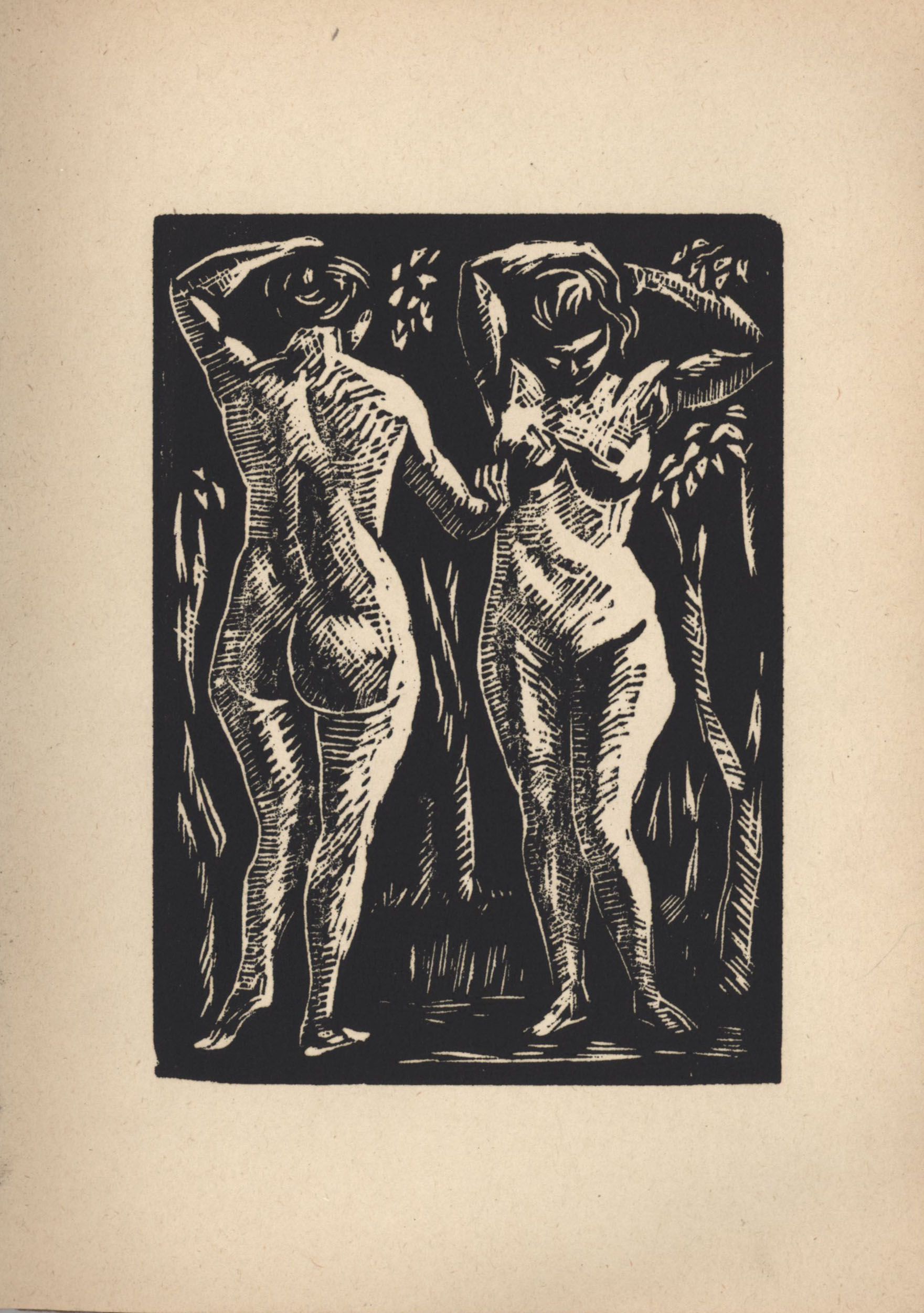 Ninth woodcut from Roger Fry's 'Twelve Original Woodcuts'.