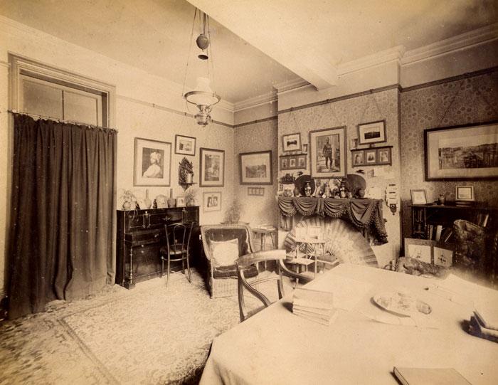 Room K1, Fawcett's building (preceded the Keynes building) (c.1895-6; KCAC/1/3/6/4/1 EA Haviland's album)