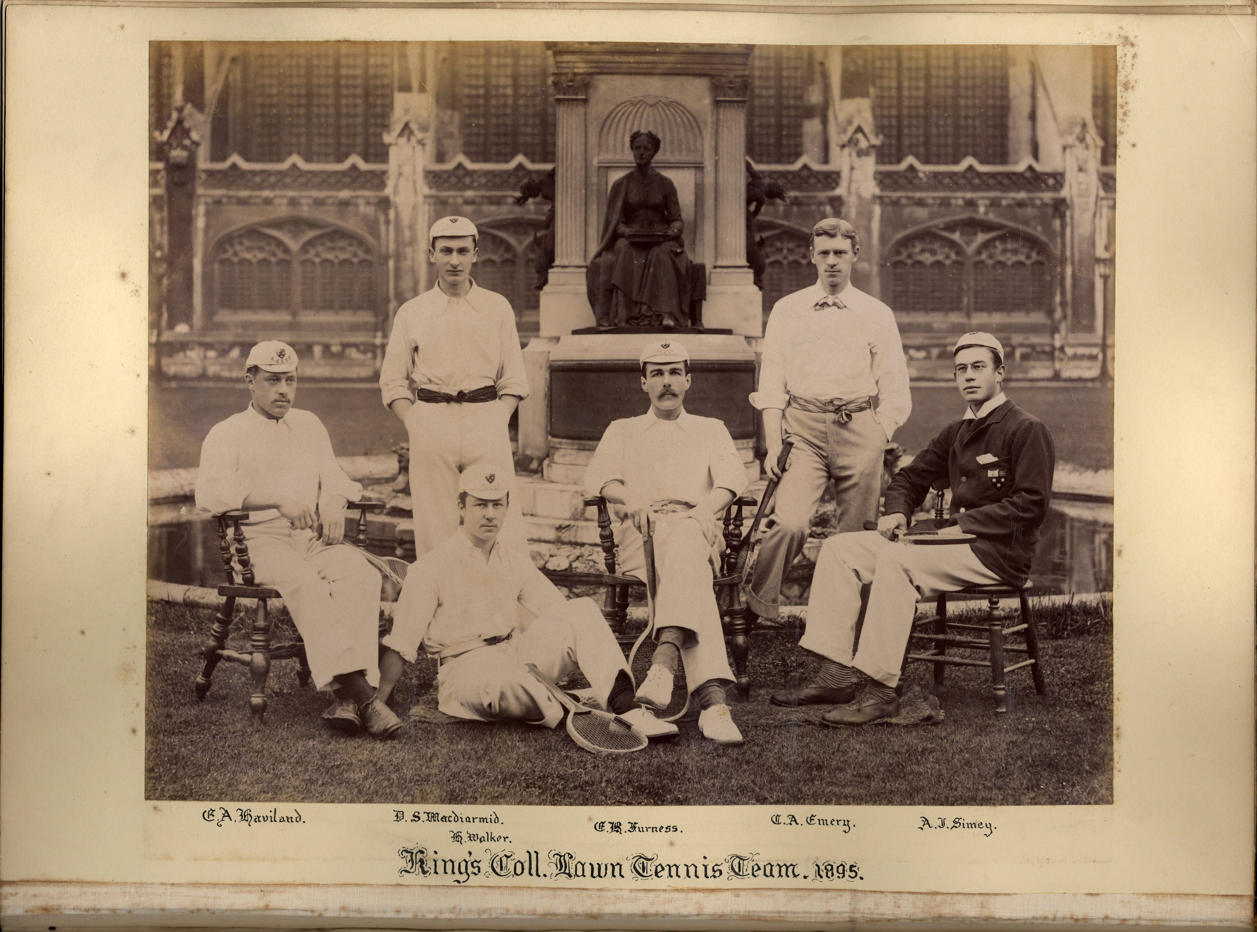 King's College Lawn Tennis team, 1895 [KCAC/1/3/6/4/1]