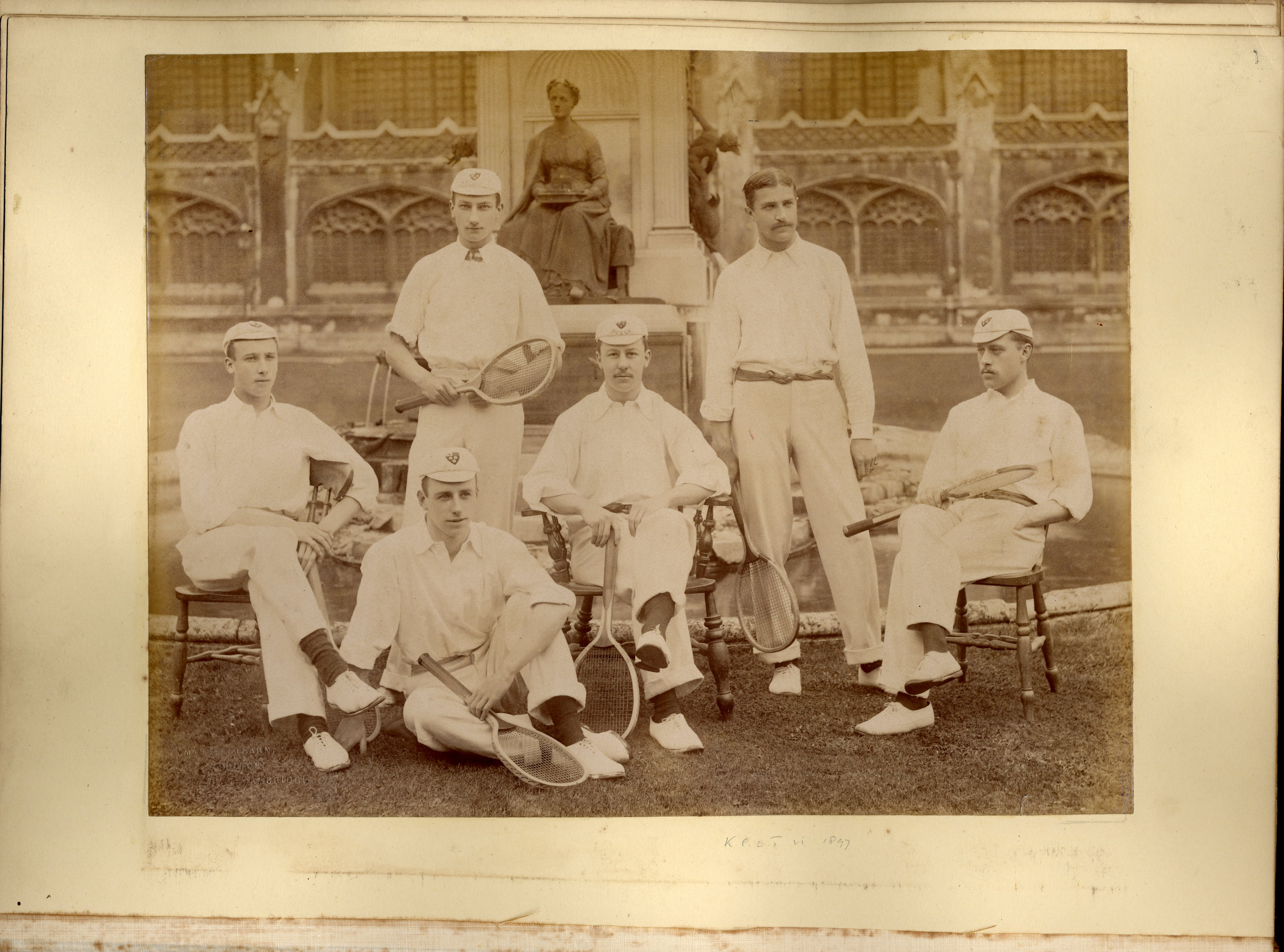 King's College Lawn Tennis team, 1897 [KCAC/1/3/6/4/1]
