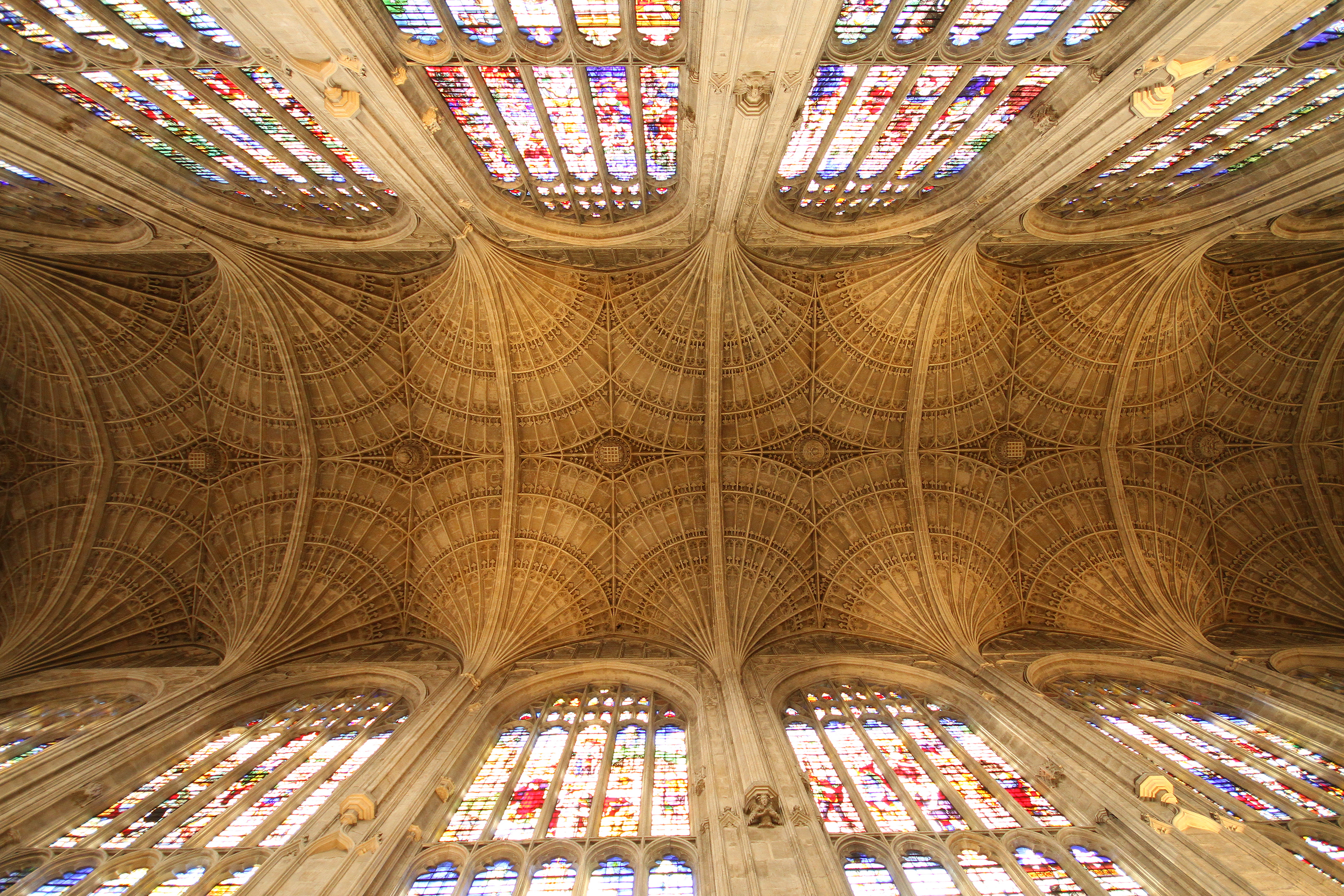 The completed Chapel vault. Photograph: Mike Dixon © 2011 King's College, Cambridge [CMR/250, IMG_5475]