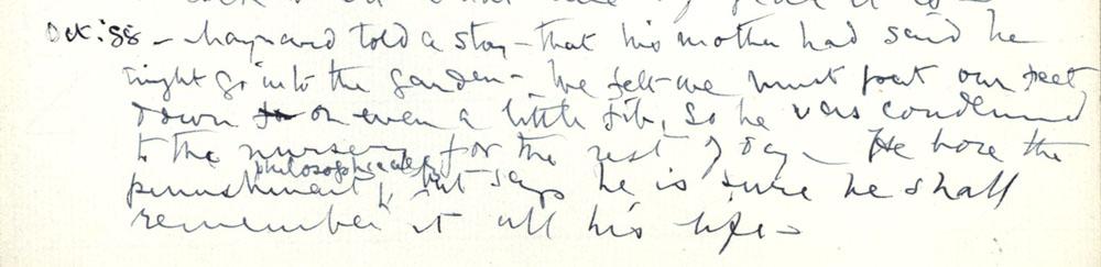 Florence Ada Keynes' reflections, October 1888 (JMK/PP/90/8).