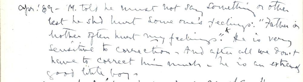 Florence Ada Keynes' reflections, April 1889 (JMK/PP/90/11).