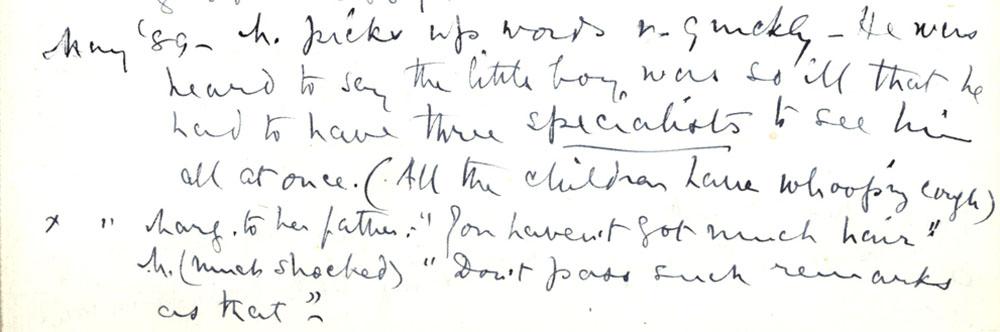Florence Ada Keynes' reflections, May 1889 (JMK/PP/90/11).