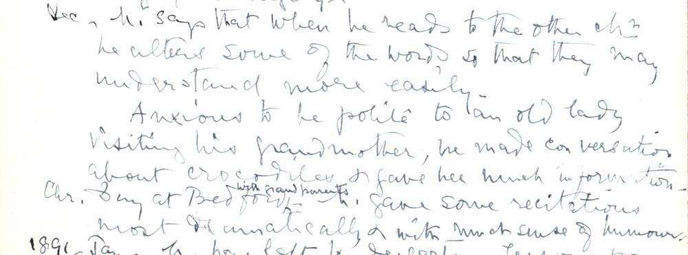Florence Ada Keynes' reflections, December 1890 (JMK/PP/90/14).