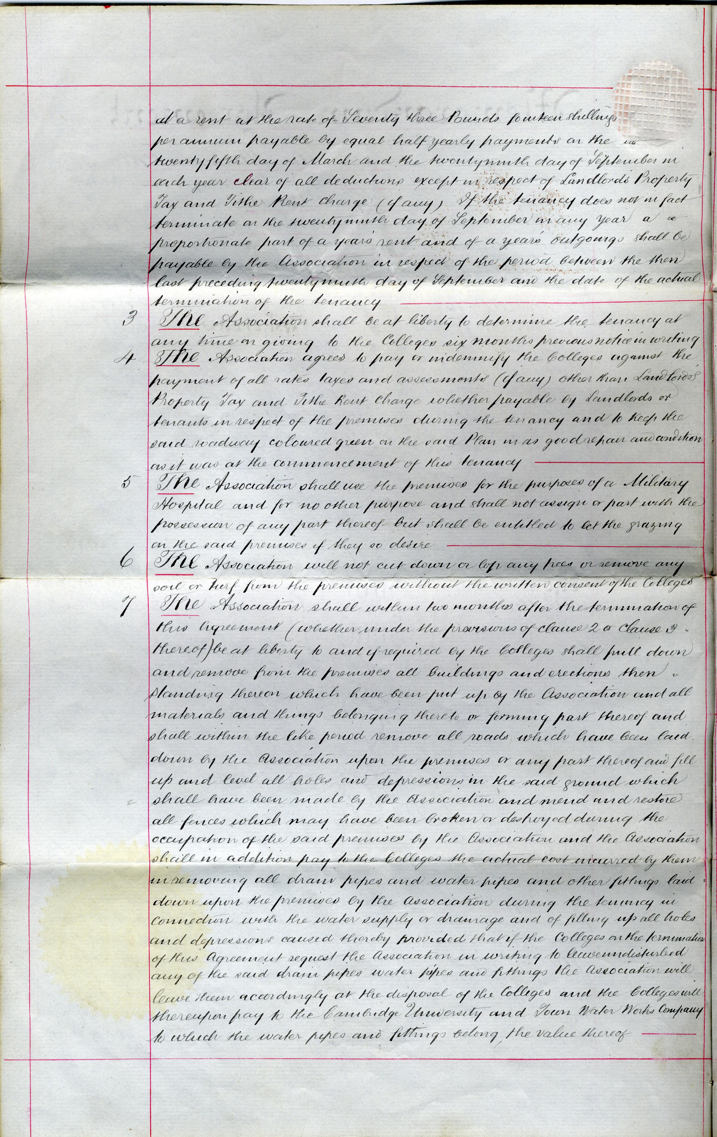 Memorandum of Agreement (duplicate), 1 December 1915, page 2 (KCAR/3/1/1/8/31)