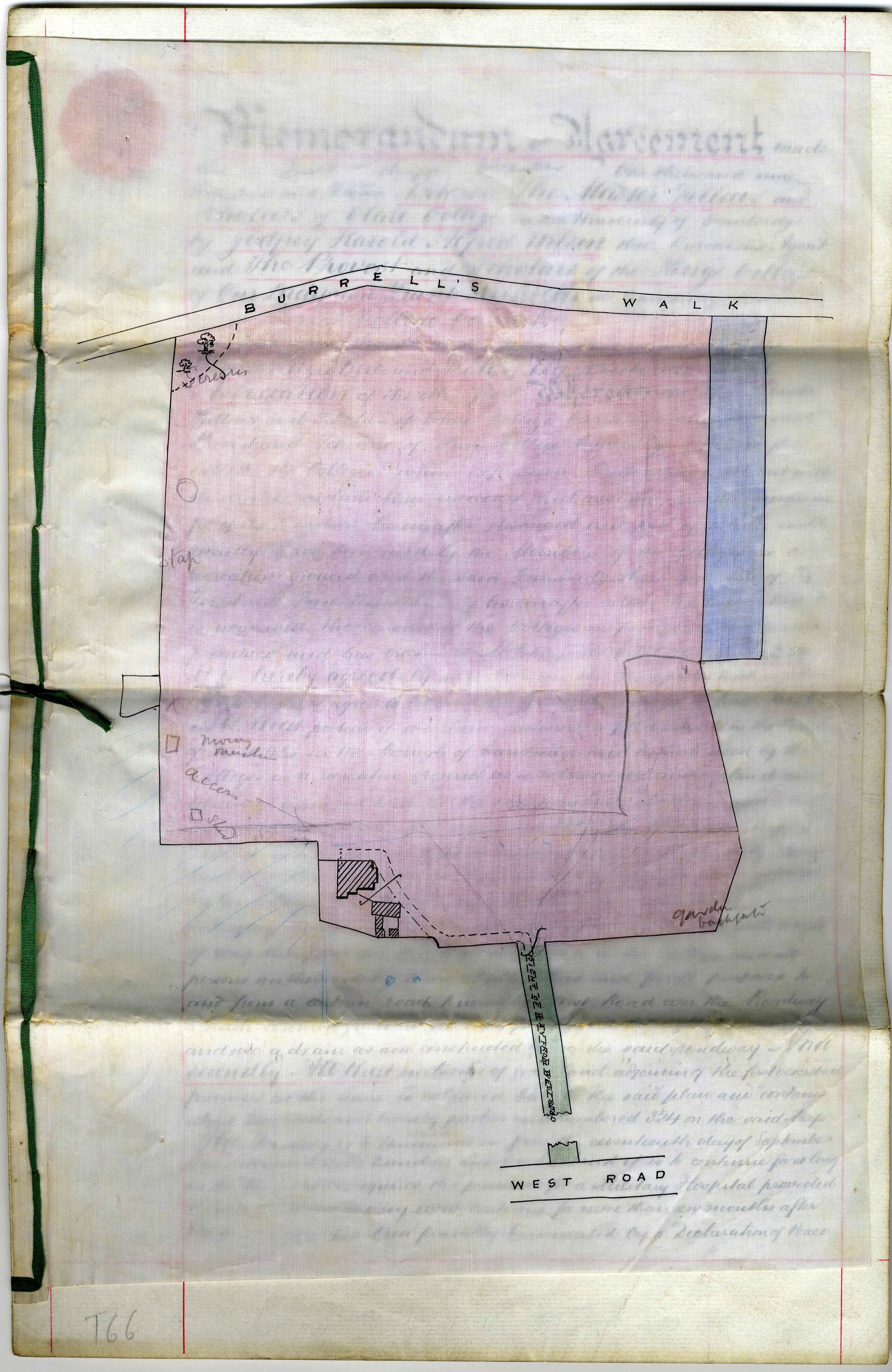 Memorandum of Agreement (duplicate), 1 December 1915, plan (KCAR/3/1/1/8/31)
