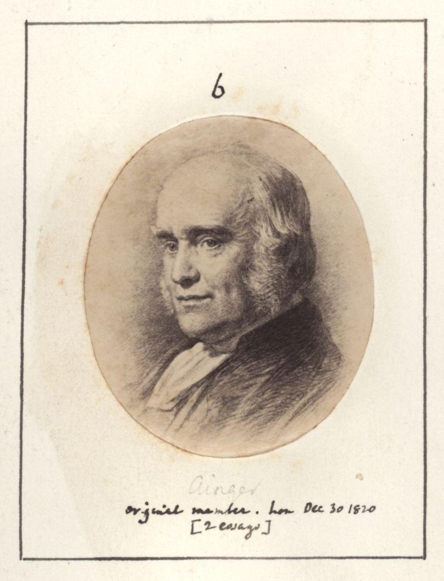 Thomas Ainger in the Apostles photo book. [KCAS/39/4/1, p4]