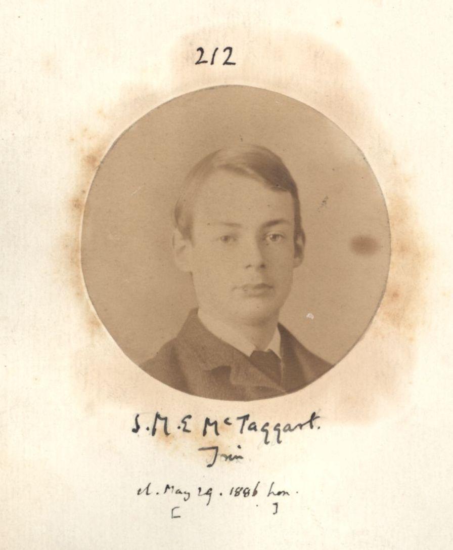 McTaggart, John Ellis. [KCAS/39/4/1, Apostles Photobook, p. 66, no. 212]