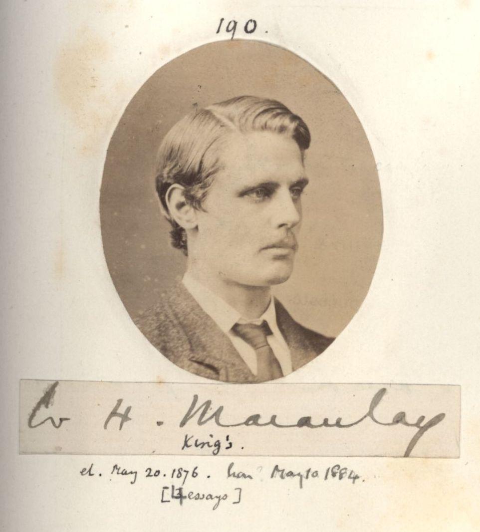 190: Macauley, William Herrick. [KCAS/39/4/1, Photobook, p.61]